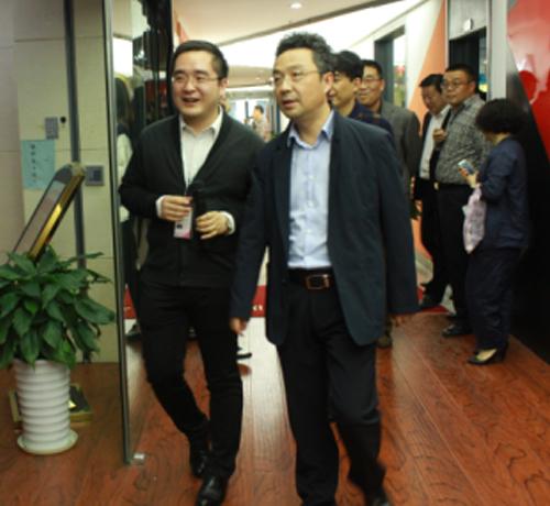 泉山区政府领导班子参观徐州网商天下